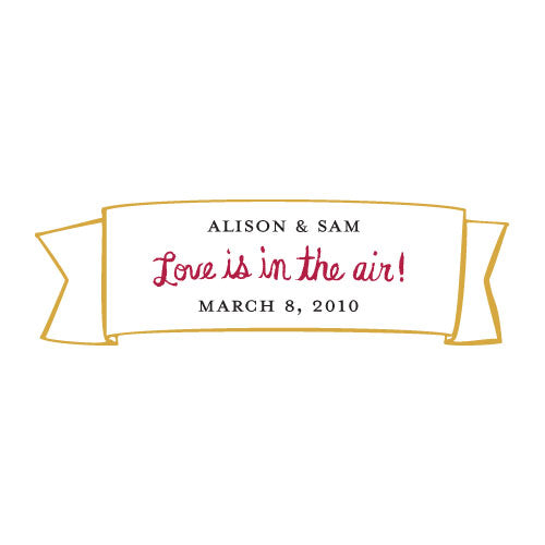 Love is In the Air Small Banner Sticker (Pack of 1)