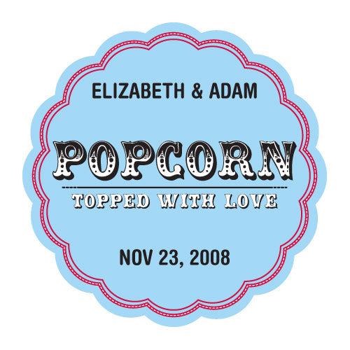 Popcorn - Topped with Love Sticker (Pack of 1)