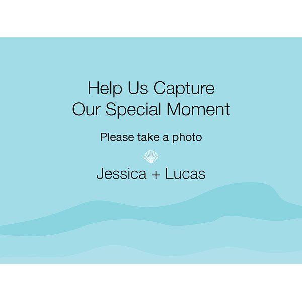 Beach Camera Table Sign (Pack of 1)