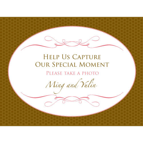 Wedding Memories Camera Table Sign (Pack of 1)