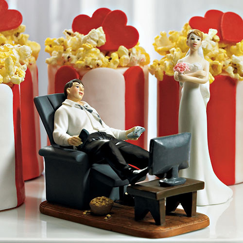 """Couch Potato"" Groom Figurine (Pack of 1)"