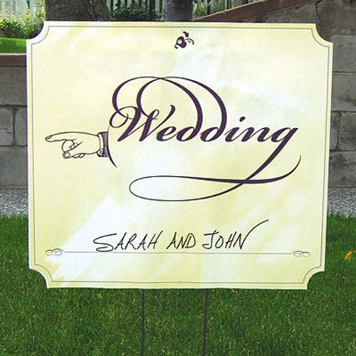 "Wedding Directional Signs ""Directing Right"" Wedding Sign (Pack of 1)"