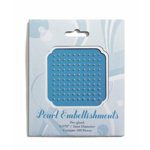 Stationery Jewels in Pearl 2mm (100 per package) (Pack of 1)