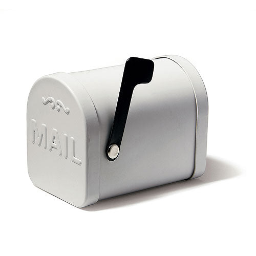 Small White Tin Mailbox Favor Container (6) (Pack of 6)