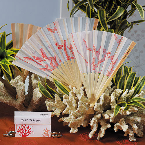 Beach Fan with Delightful Underwater Seascape (6) (Pack of 6)