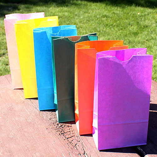 Block Bottom Gusset Paper Goodie Bags Lavender (Pack of 25)