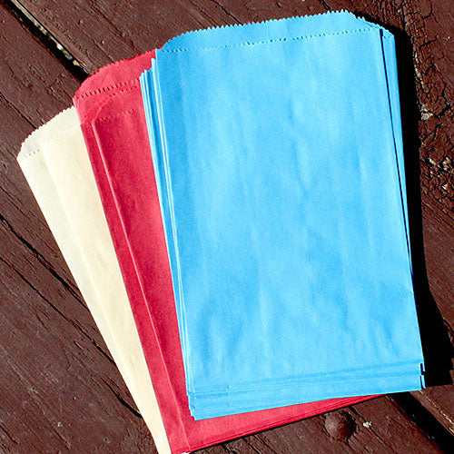Flat Paper Goodie Bag Sky Blue (Pack of 25)
