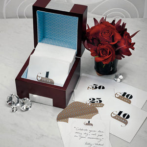Wooden Memory Note Box with Anniversary Stationery (Pack of 1)