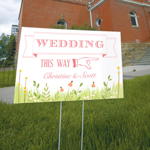 Homespun Charm Wedding Directional Sign Sweet (Pack of 1)