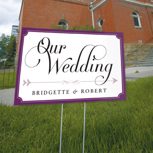 Expressions Wedding Directional Sign Vintage Pink (Pack of 1)
