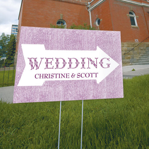 Pointing Arrow Wedding Directional Sign Caribbean Blue (Pack of 1)