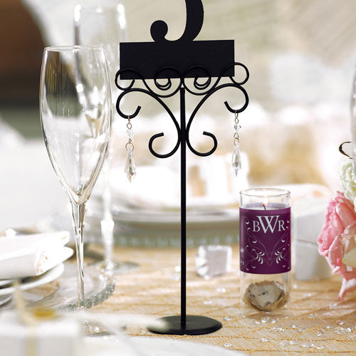 Ornamental Wire Stationery Holders Tall - Black (6) (Pack of 6)