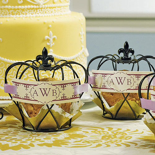Small Wire Crown Wedding Favor Décor (4) (Pack of 4)