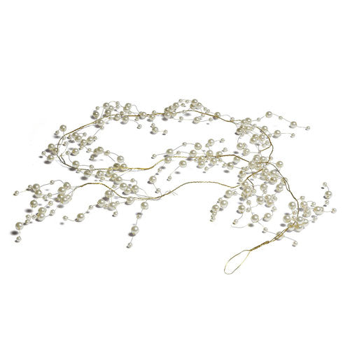 Pearl & Vintage Gold Wire Ornamental Garland (Pack of 1)