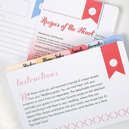 """Recipes of the Heart"" Recipe Cards and Divider Set (Pack of 45)"