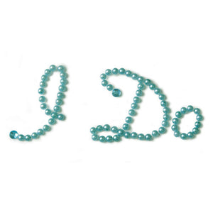 """I Do"" Shoe Talk In Blue Pearls And Crystals (Pack of 1)"