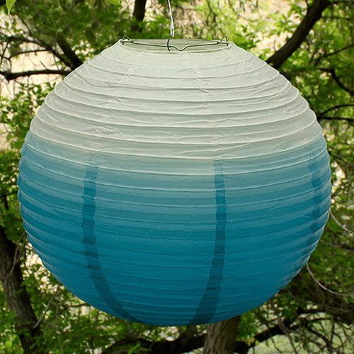 Ombre Colored Round Paper Globe Lanterns Candy Apple Green (Pack of 1)