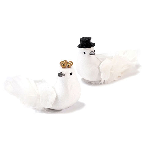 Miniature Bride And Groom Wedding Doves Bride (Pack of 6)