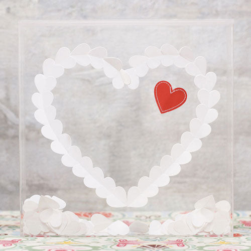 """From The Heart"" Transparent Acrylic Shadow Box (Pack of 1)"