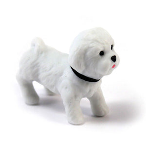 Miniature Bichon Frise Dog Figurines (Pack of 1)