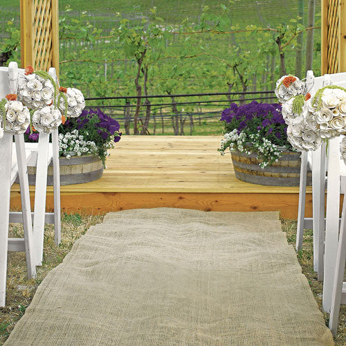 Burlap Aisle Runner (Pack of 1)