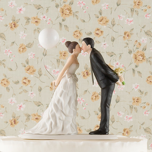 Leaning in for a Kiss - Balloon Wedding Cake Topper (Pack of 1)
