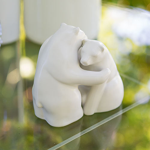 Interlocking Bear Hug Cake Topper Figurine Set (Pack of 1)
