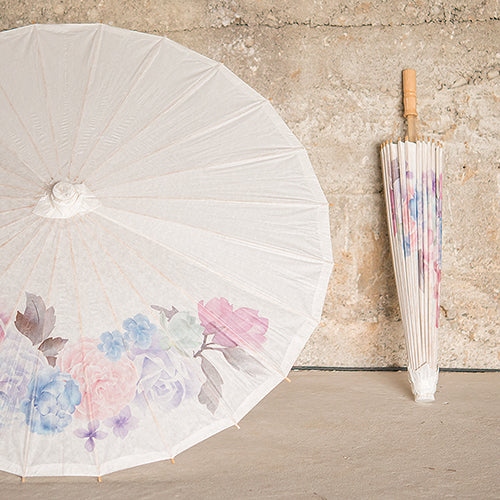 Paper Parasol with Vintage Floral Print (Pack of 1)