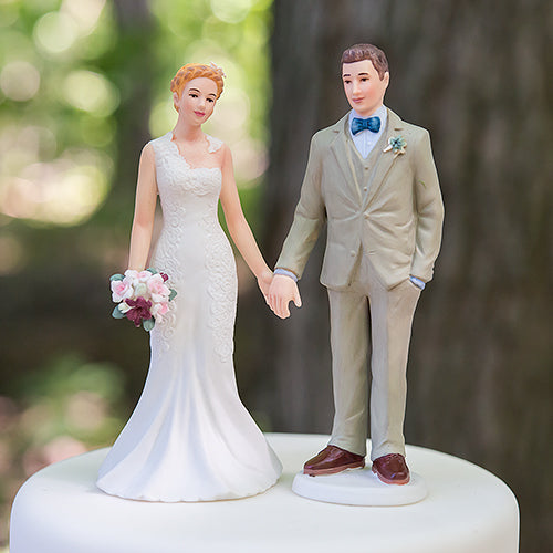 Woodland Bride and Groom Porcelain Figurine Wedding Cake Topper Bride (Pack of 1)