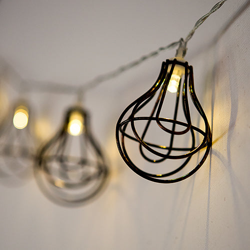 Decorative Battery-Operated LED String Lights - Wire Bistro (Pack of 1)