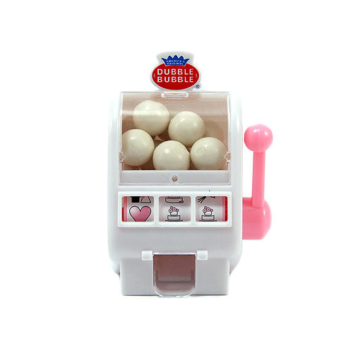 White and Bubble Gum Pink Mini Slot Machine Favor (Pack of 1)
