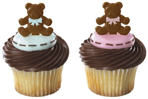 Teddy Bear Cupcake Pics for Baby Showers