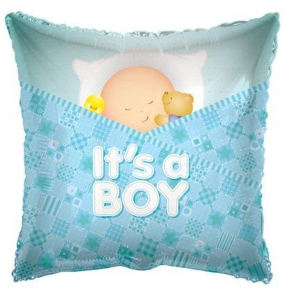 Baby Boy Sleeping Foil Mylar Balloon