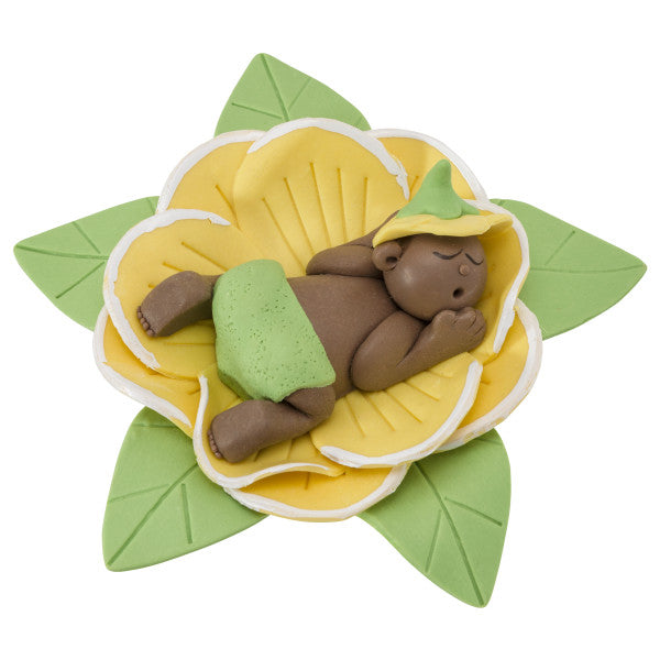 Baby Shower Cake Topper Decoration Baby Bud African American