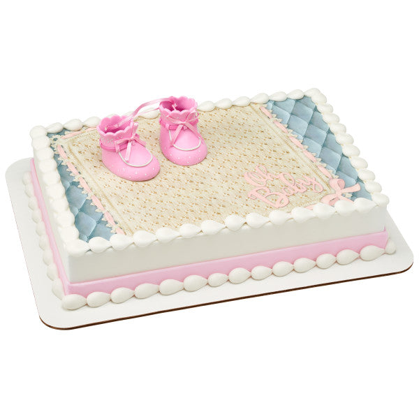 Baby Shower Cake Decoration Girl Booties