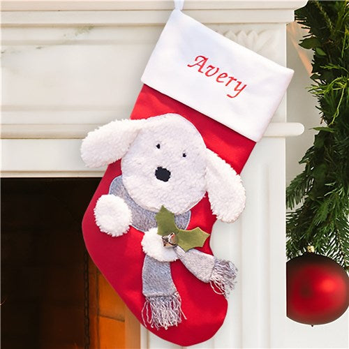 Personalized Puppy Dog Christmas Stocking