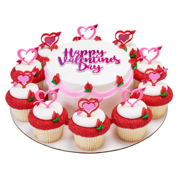 Valentines Day Heart Arrows Cupcake Pics