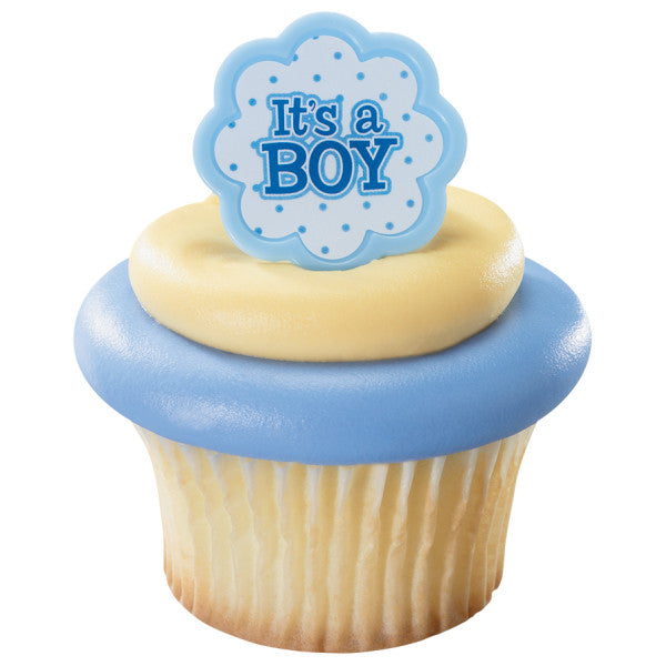 Baby Shower Flower Cupcake Rings It's A Boy