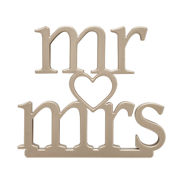 Mr & Mrs Wedding Cake Topper Ornament Decoration