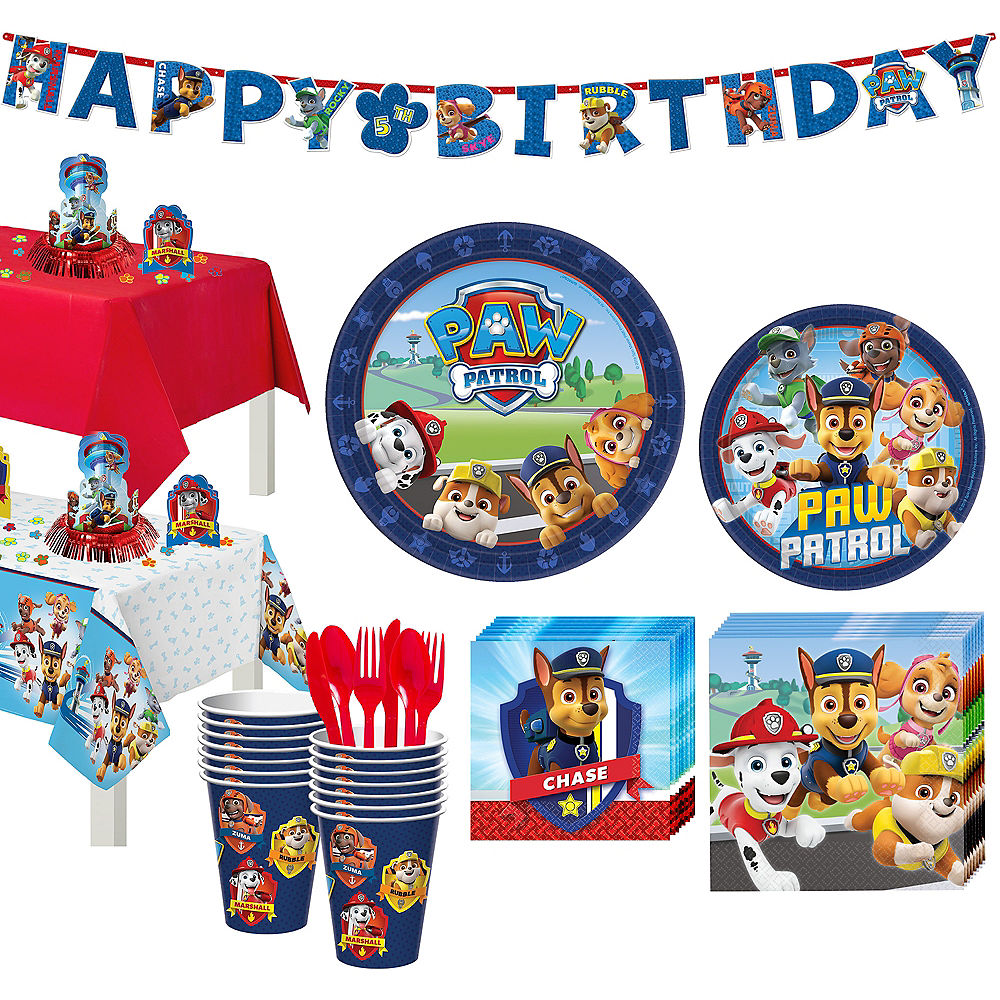Paw Patrol Partyware for 16 Guests