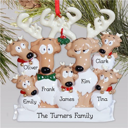 Personalized Reindeer Family Christmas Ornament
