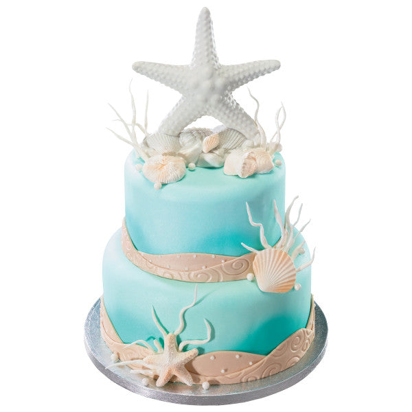 Wedding Ornament Cake Topper Decoration Ocean Beach Starfish