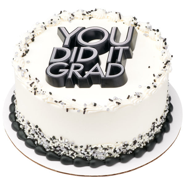 You did it Graduation Cake Topper Decoration Layon