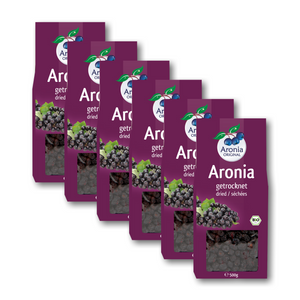 Organic Aronia Berries Dried (500g) 6 Pack