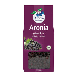 Organic Aronia Berries Dried (500g) - J&J Aronia