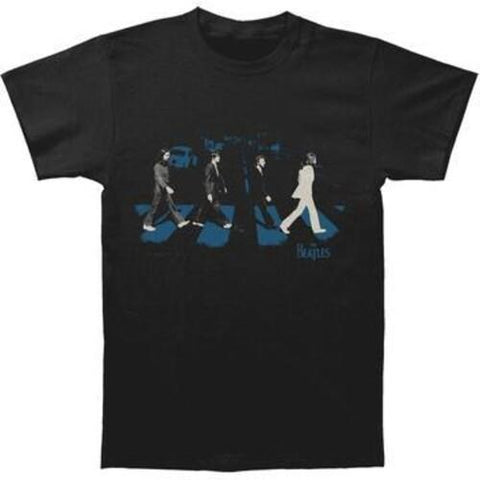 THE BEATLES Abbey Road Stride Black Unisex Short Sleeve T-Shirt