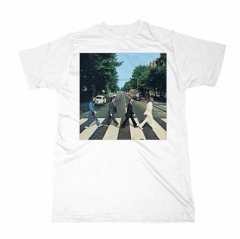 THE BEATLES Abbey Road Album Cover White Unisex Short Sleeve T-Shirt