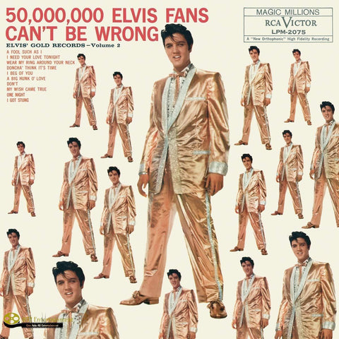 ELVIS PRESLEY 50,000,000 Elvis Fans Can't Be Wrong: Elvis' Gold Records Volume 2 - 852 Entertainment