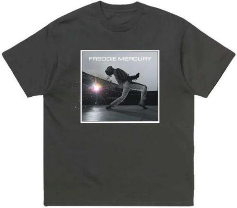 Freddie Mercury On Stage Pastel Sparks Black Unisex Short Sleeve T-Shirt