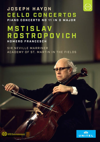 MSTISLAV ROSTROPOVICH (CELLO), ACADEMY OF ST MARTIN IN THE FIELDS, SIR NEVILLE MARRINER Rostropovich plays Haydn Cello Concertos - 852 Entertainment